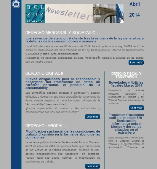 Newsletter España - abril 2014
